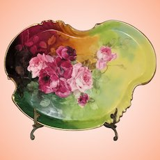 Beautiful Antique Limoges Vanity Tray Hand Painted and signed by Studio artist Julius Brauer
