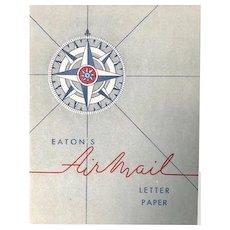 Vintage Eaton's Airmail Letter paper: box: 1940-50