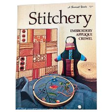 Vintage: Stitchery book: Stitchery embroidery Appliqué and Crewel: Sunset:1975