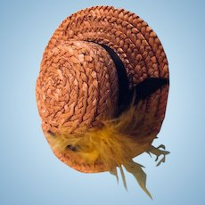 Ginny Doll straw Hat: 1954