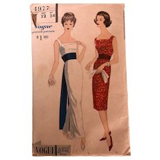 Vintage Vogue special Design: Dress Pattern:  4977: 1960s: