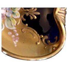Murano Bohemian Cobalt Gold dish
