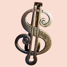 Sterling Money Clip: English hallmarks: 1890-1920: First Family of Virginia