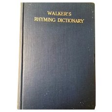 Walker's Rhyming Dictionary 1932 excellent condition