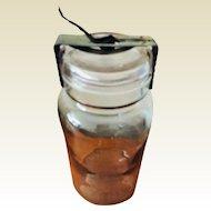 Reduced: Vintage Canning Safety Jar: 1895