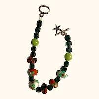 Christmas in July: Crystal Bracelet and Earrings: Artisan and Original