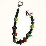 Christmas in July: Crystal Bracelet and Earrings: Artisan and Original