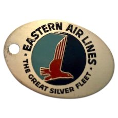 Vintage Eastern Airline Employee luggage tag or key chain.