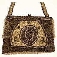 REDUCED: Belgium Evening Purse: Intricate Seed beaded design: from 4os-50s