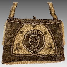 Belgium Evening Purse: Intricate Seed beaded design: from 4os-50s