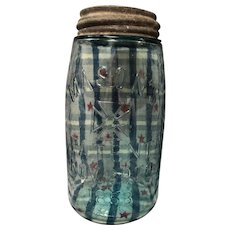 REDUCED: Vintage Mason jar: light aqua: quart: zinc lid