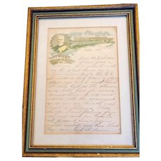 Antique letter from Spanish American War:1898