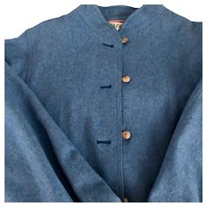 Jaeger blue bomber jacket: size 14:1970s