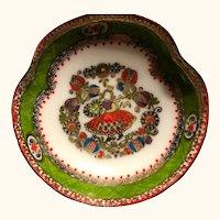 Austrian porcelain: handmade: green red gold