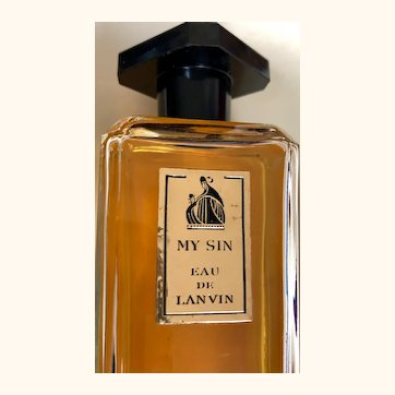 My Sin Lavin de Eau: 4 oz bottle: vintage 60s