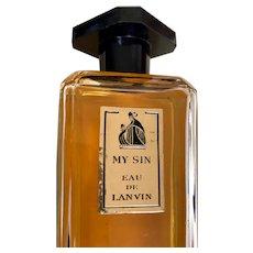My Sin Lavin de Eau: 4 oz bottle: vintage 60s