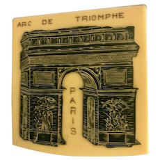 French celluloid compact: WWII:Arc de Triomphe: 1945
