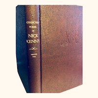 Ncik Kenny Collected Poems: autographed;1952: