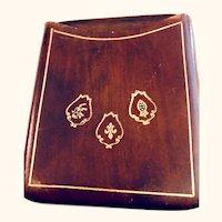 Vintage leather cigarette box case: 50-60s
