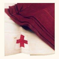 World War II: red cross scarves for volunteers: 1940?