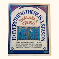 To Everything their is a Season: Thalassa Cruso: 1973: First Edition: DJ