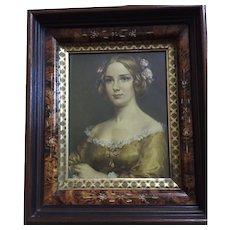 REDUCED! Eastlake frame (1880) Jenny Lind (1850) print: Cecil Golding: excellent condition: label on back: