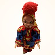 Lapland or Sami doll: Norway: Vintage: 60s: Reindeer boots: 8 inches:
