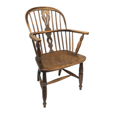 Antique English Windsor Arm Chair 19th Century