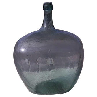 Antique Demijohn Hand Blown Bottle 5 Gallon