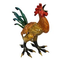 Wake Up Call Bronze Bigfoot Rooster by Tim Cotterill Frogman