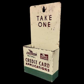 Chevron Credit Card Application Metal Holder