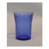 Hazel Atlas Moderntone Cobalt Blue Whiskey Glass