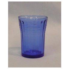 Hazel Atlas Moderntone Cobalt Blue Whiskey Glass