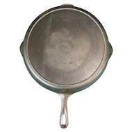 Griswold Erie #12 Cast Iron Skillet w/ Heat Ring
