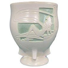 Roseville Silhouette Nude Vase 763-8 Circa 1952 MCM