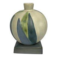 Roseville Futura Bamboo Leaf Ball Vase 387-7 Near Mint
