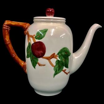 "Franciscan Apple 8 ½"" Coffee Pot"