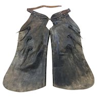 Batwing Cowboy Chaps, Marked Farra, Circa 1940