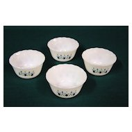 Fire King Swiss Alpine Chalet Custard Bowls Set of 4