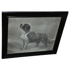 I Hear a Voice by Maud Earl, Framed Engraving circa 1898