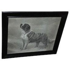 I Hear a Voice by Maud Earl, Framed Engraving circa 1898
