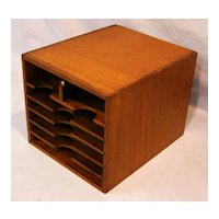 Oak Letter File Box