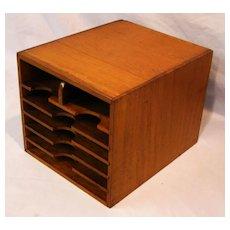 Oak Letter File Box