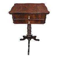1800s Mahogany Victorian Sewing Cabinet