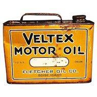 Veltex Motor Oil Can