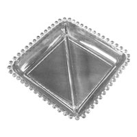 Candlewick Two Part Square Relish Dish