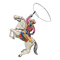 Lone Ranger & Silver Wind-Up Tin Toy by Marx, c. 1938