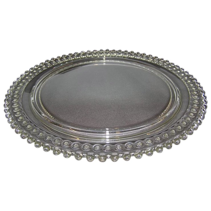 Candlewick Birthday Cake Plate 72 Candle Holes : Village Antiques ...