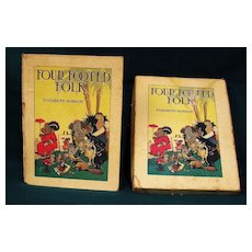 Four Footed Folk Childrens Book w/Box