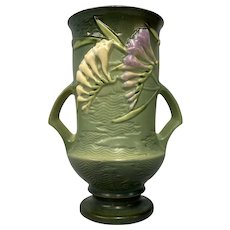Roseville Freesia Vase 123-9 Circa 1945
